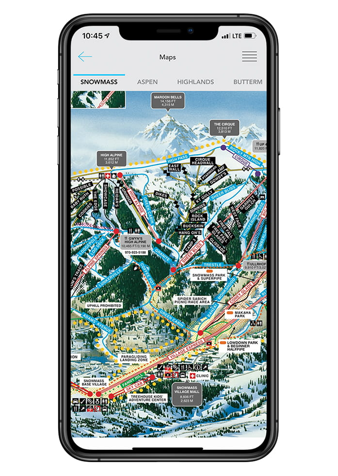 Aspen Snowmass App screen capture