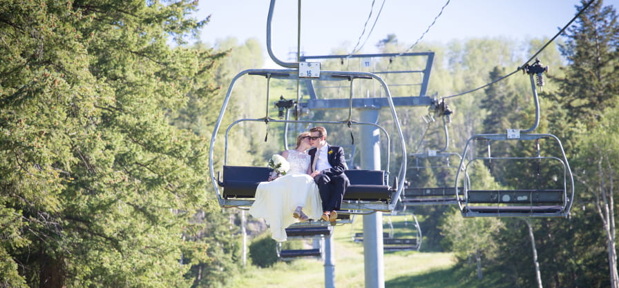 Summer wedding at the Cliffhouse at Buttermilk Mountain in Aspen Colorado