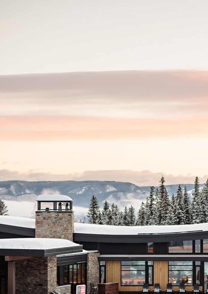 Winter wedding at Elk Camp at Snowmass, Colorado