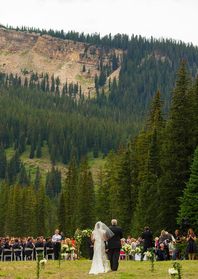 Summer wedding at Elk Camp at Snowmass, Colorado