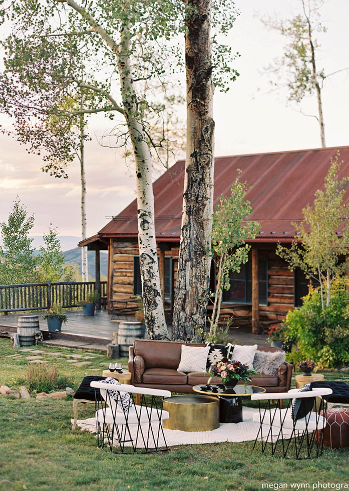 Summer wedding at Lynn Britt Cabin in Snowmass