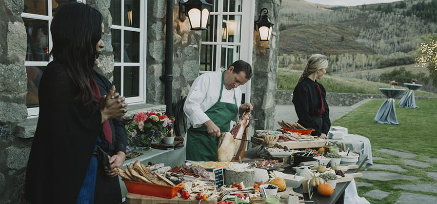 Off premise event catering by ASC Catering in Aspen Snowmass Colorado