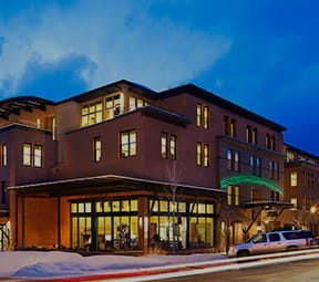 View of Limelight Aspen in downtown Aspen, Colorado.
