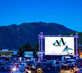 The Meeting Flimfest in Aspen Colorado at the Audi Drive in Theater.