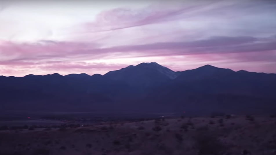 Featured screenshot of the Sedona music video by Houndmouth.