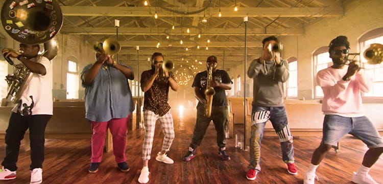 The Soul Rebels blow the horn video.