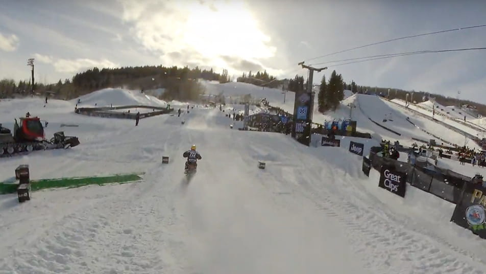 Video of Snowbikecross in  Aspen Colorado for X Games.