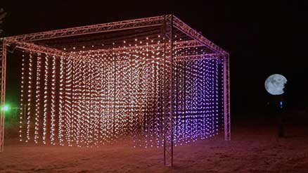 Submergence by Squidsoup LED art instillation