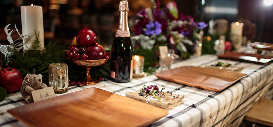 asc catering winter wedding on mountain food and beverage venue elk camp