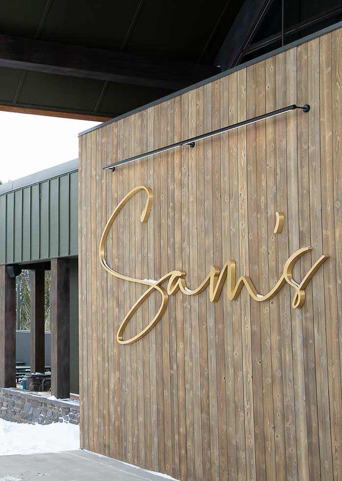Sams new Italian restaurant in Snowmass, Colorado.