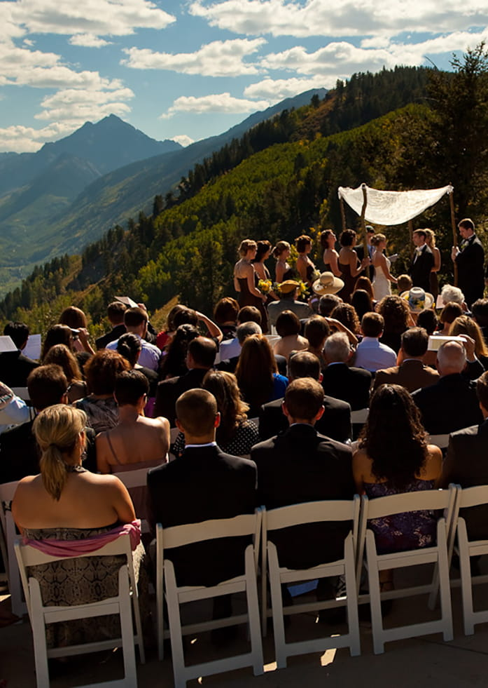 Outdoor Wedding Ceremony in Aspen