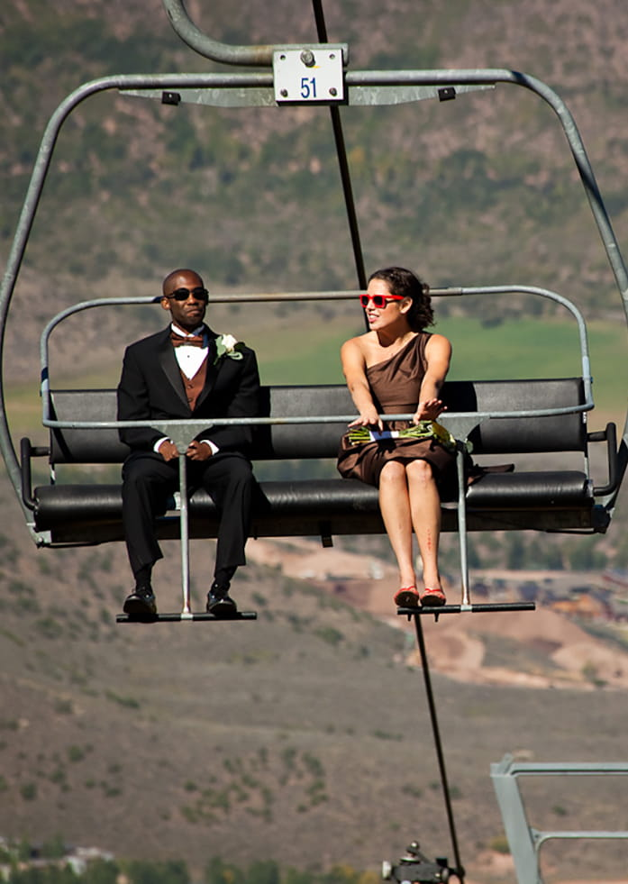 Bridal Party Chairlift Ride