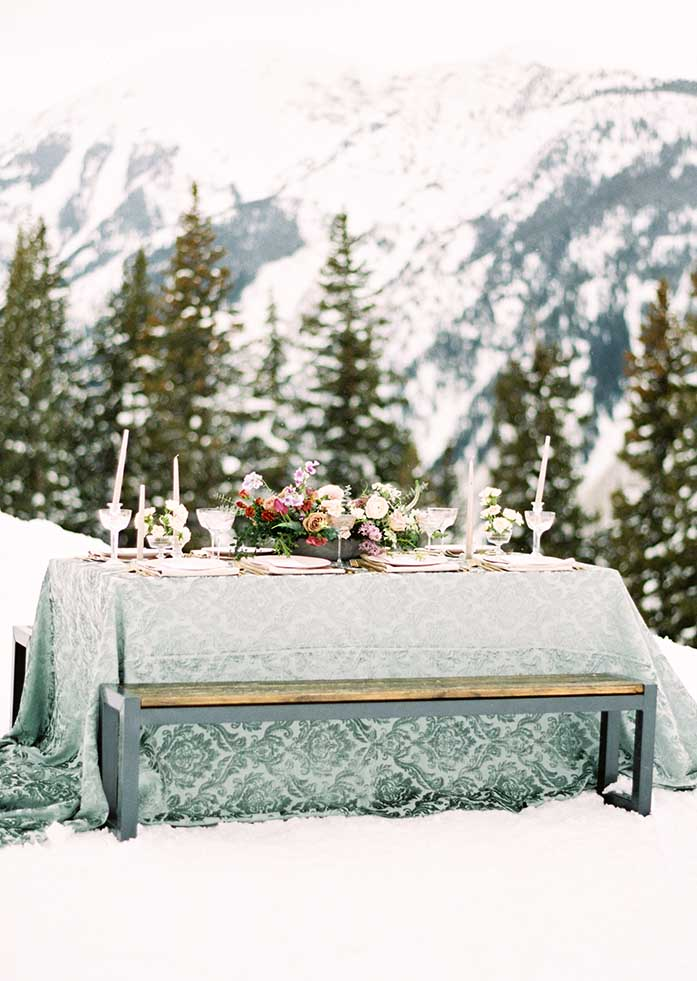Cloud Nine Wedding Outside Table