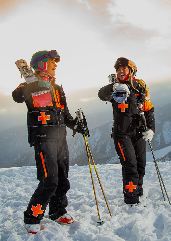 Female Ski Patrollers at Aspen Snowmass