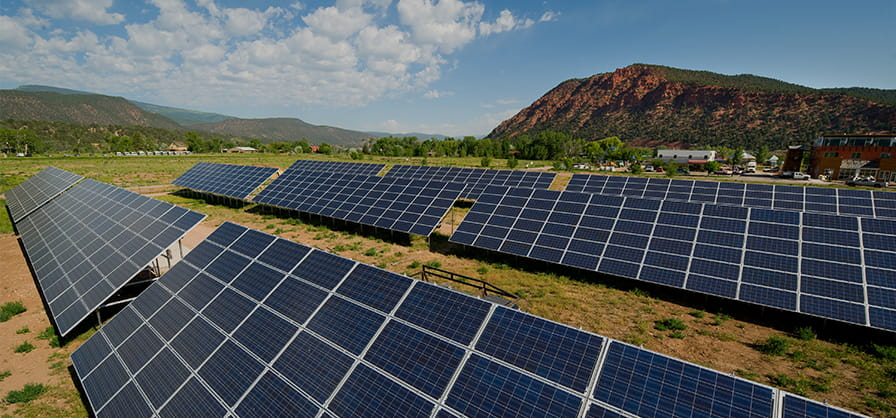 Solar Panels at Aspen Snowmass