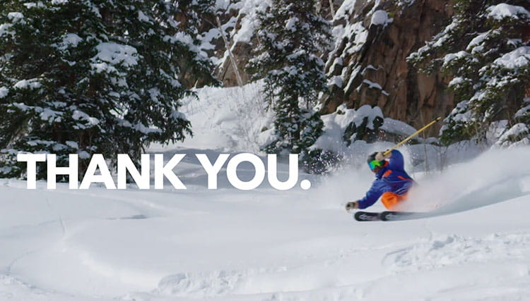 Thank You from everyone as Aspen Snowmass!