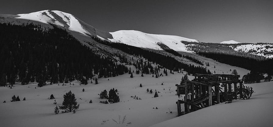 Aspen on Pause black and white photography series from Aspen Photographer Tamara Susa.