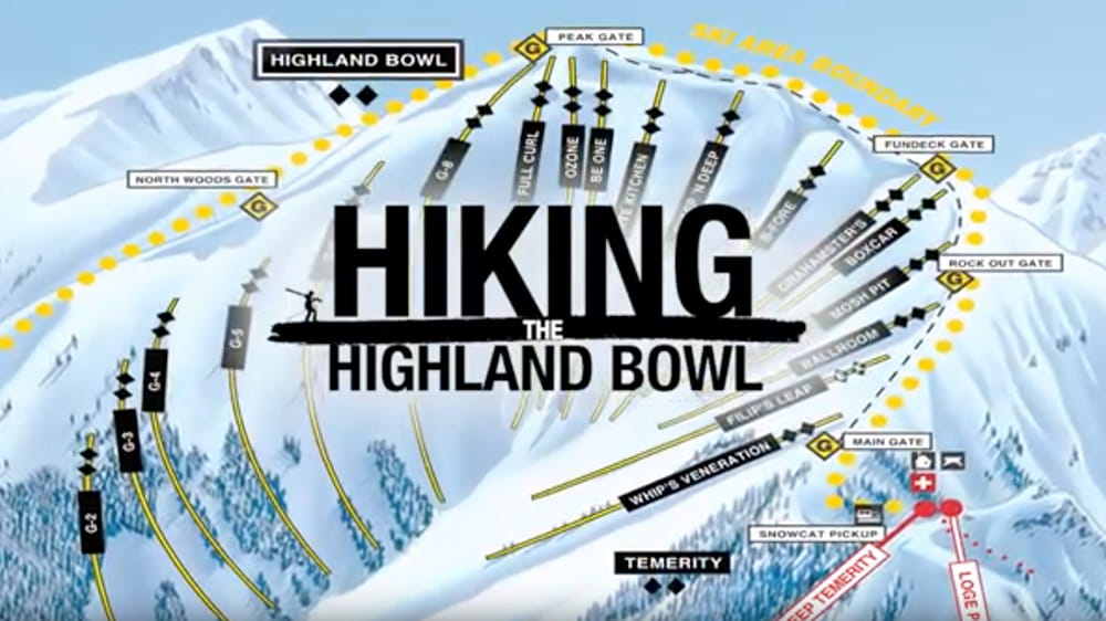 Video with tips on how to Hike the Highland bowl in Aspen, Colorado.