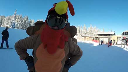 Turkey Skier in Aspen