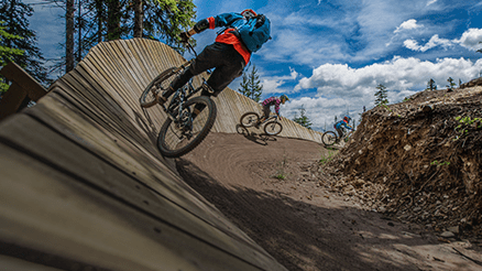 Wooden Berm Mountain Biking