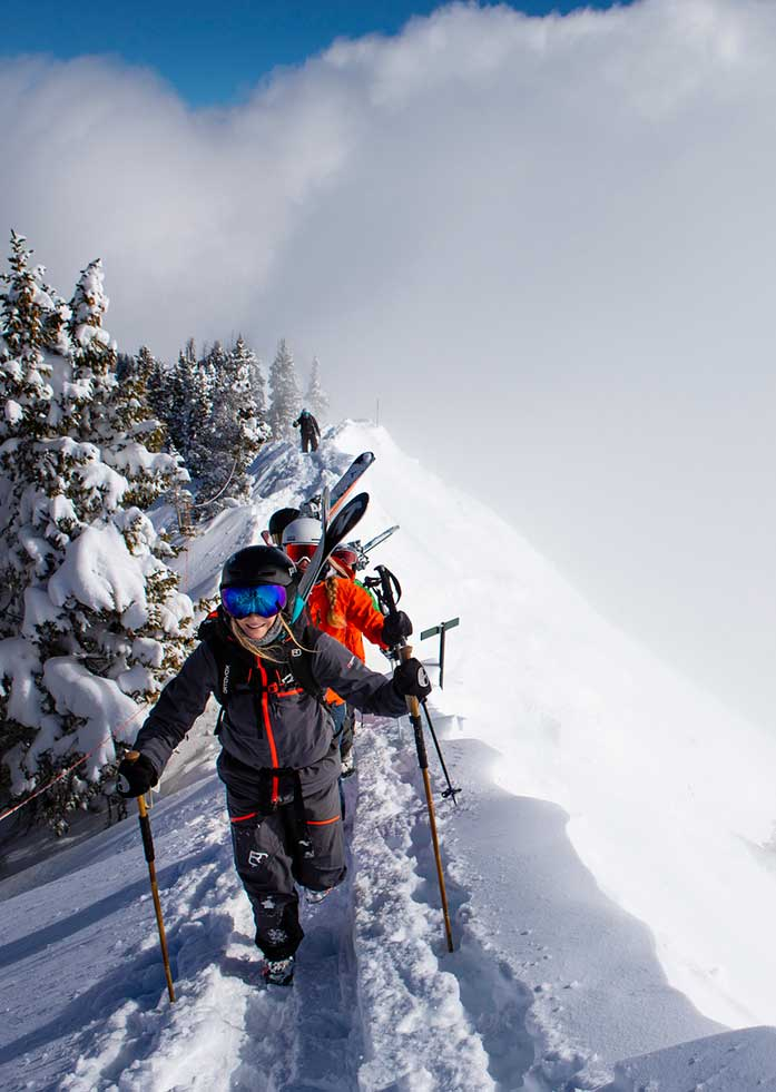 Highland Bowl, Aspen Highlands, Colorado - The ascent into Highland Bowl