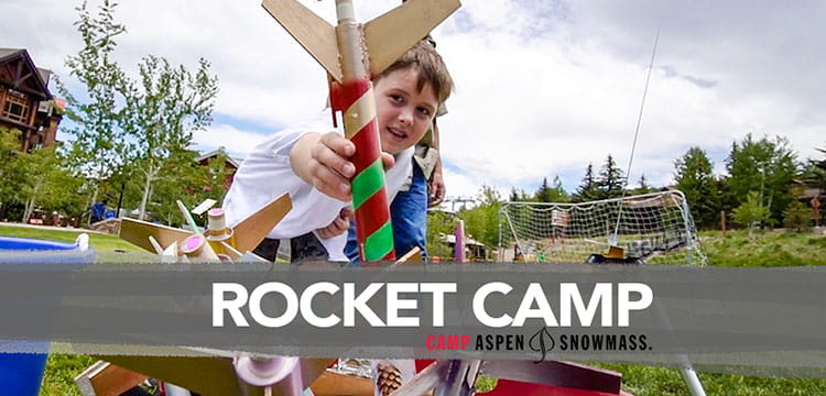 Rocket building video at Camp Aspen Snowmass an adventure cam for kids