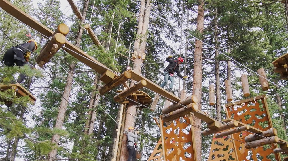 Still image of Snowmass Lost Forest Treeline Trial Challenge Course