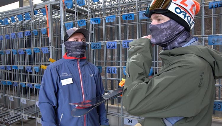 Employees with face coverings