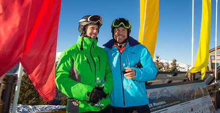 Aspen Gay Ski Week couple