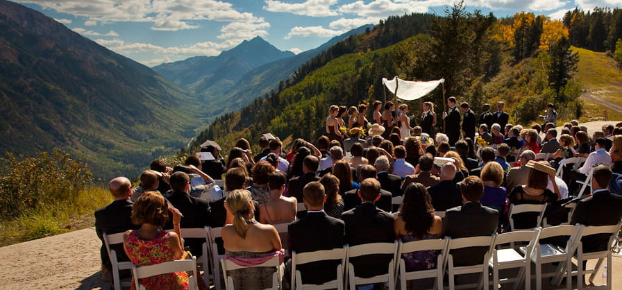 asc catering on mountain food and beverage cliffhouse wedding