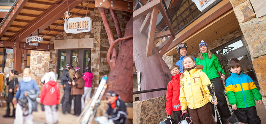 Treehouse entrance at Snowmass
