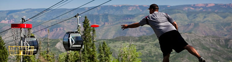 Disc golf at Snowmass