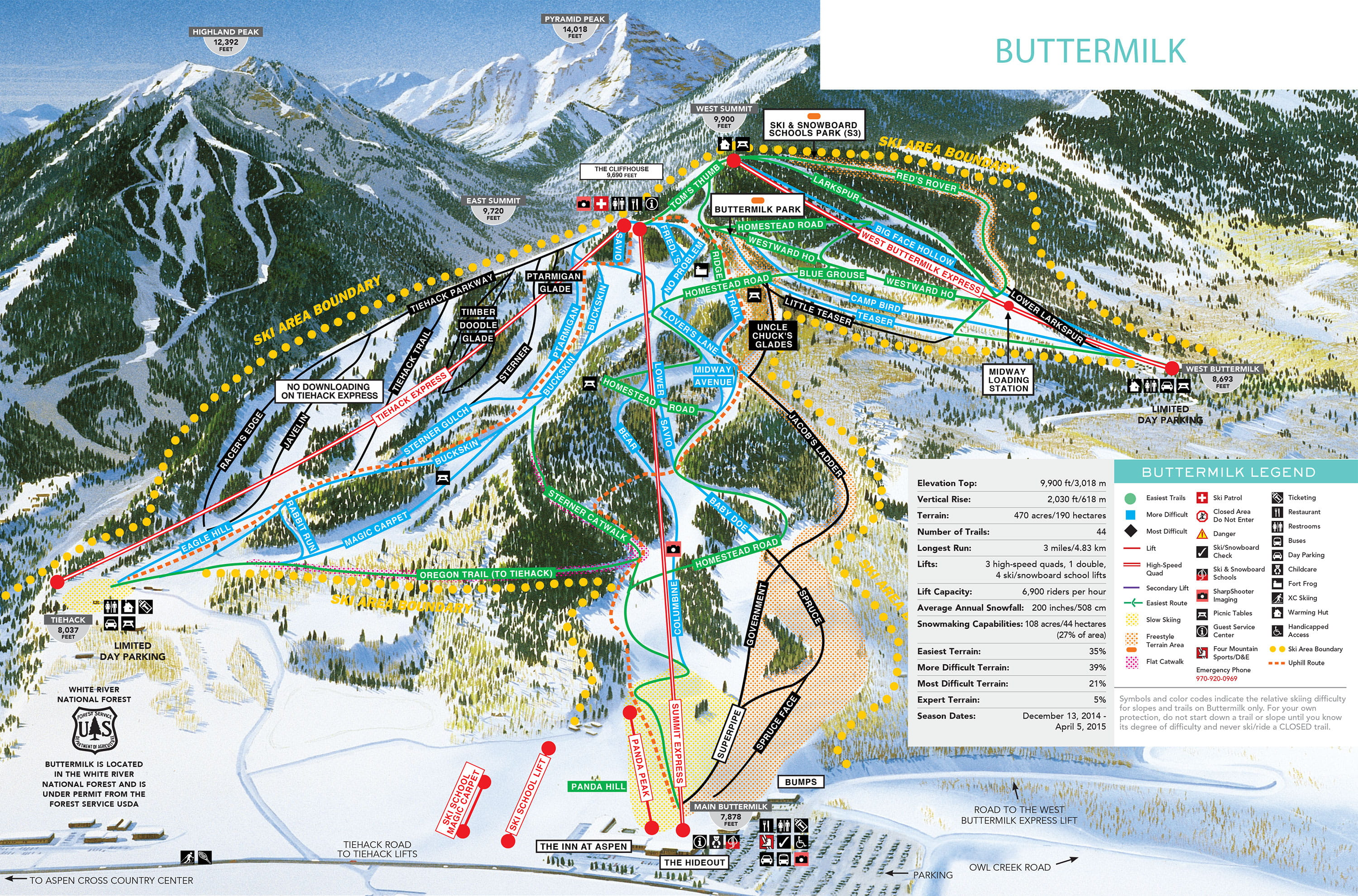Buttermilk Trail Map Interactive Trail Maps Aspen Snowmass - Us ski resorts map